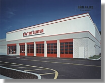 Tire center with Arm-R-Lite Door